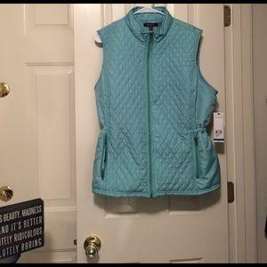 Relativity Jackets & Blazers - Teal snow vest