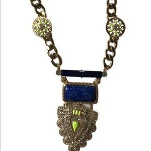 BaubleBar Jewelry - BaubleBar Necklace Goldtone/Dark blue With Rhinest