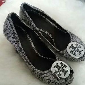 Tory Burch Shoes - Tory Burch Peep Toe Wedges