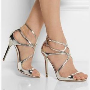 Jimmy Choo Shoes - Jimmy Choo  metallic silver Lang Sandal