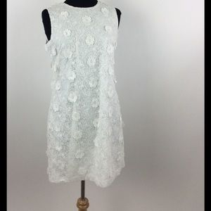 Karl Lagerfeld Floral Embroidered Shift Dress