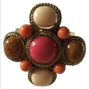 no name Jewelry - Stone cuff bracelet