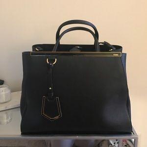 Fendi Handbags - Fendi 2jours Leather Black Satchel Pre Loved