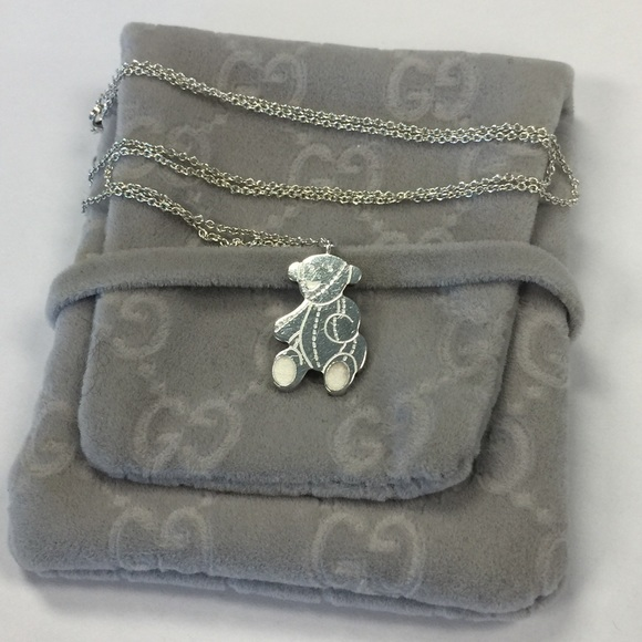 be416c41a Gucci Jewelry   Baby Silver Teddy Bear Necklace Adjustable   Poshmark