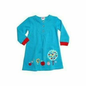 Zutano Other - Zutano French Terry turquoise dress, 2t, NWT!