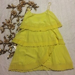 NWT BCBGMAXAZRIA Tiered Dress with Pleated Trim