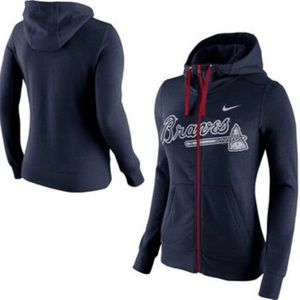 Nike Tops - Atlanta Braves Zip Up Hooded Sweatshirt