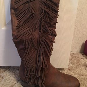 Only worn once Rampage tall riding boots