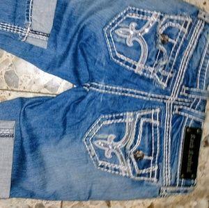 Rock Revival Denim - Rock Revival 25 kai capri thick stitching EUC