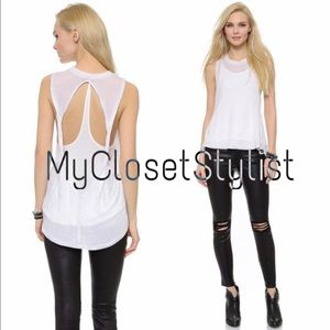 Free People Tops - Free People NWT Hi-Low White Open-Back Top Tank XS