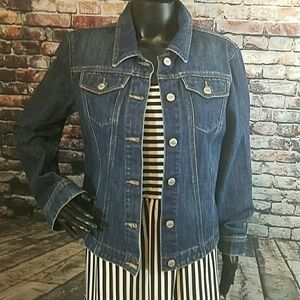 Todd Oldham  Jackets & Blazers - TODD OLDHAM FITTED DENIM JACKET
