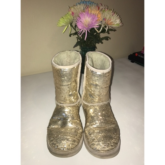 uggs gold sequin