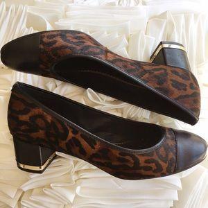 C. Wonder Shoes - C. Wonder Leopard Print Block Heels