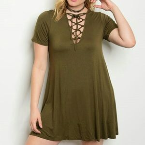 Dresses & Skirts - PLUS olive mini