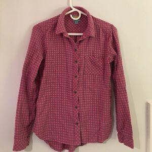 C&C California Tops - Pink & gray flannel