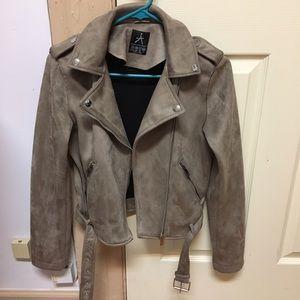 Primark Jackets & Blazers - Trendy Brown Motorcycle Jacket