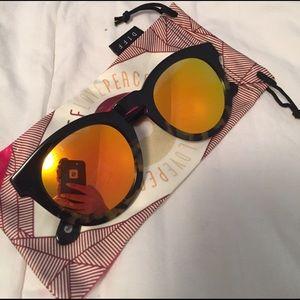 Diff Eyewear Accessories - Diff Dime II Tortoise Frame Gold Lens