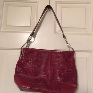 Bueno Handbags - New Bueno Alligator Like Red Purse
