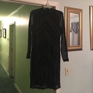Cato Dresses & Skirts - NWT Black and Gold Lace Dress