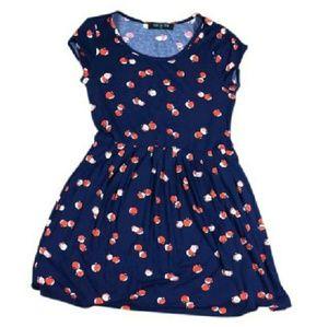 Peach Love California Apple print dress
