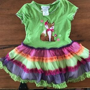 Bonnie Jean Other - Colorful Girls Cute Fox Dress with Tulle