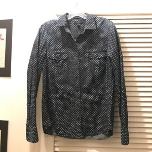 J. CREW Chambray Denim Star Button Down Shirt