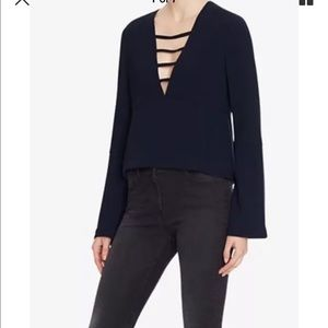 Tops - Intermix Woman Blouse v Neck flair sleeves MWOT