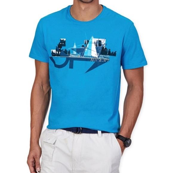 Nautica Mens Skyline Graphic T-Shirt