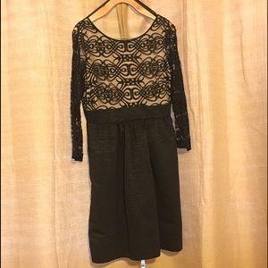 Eliza J Dresses & Skirts - Eliza J Lace Mesh Bodice Fit & Flare Dress