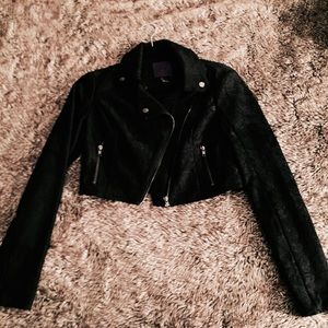 Forever 21 Black Lace Crop Jacket