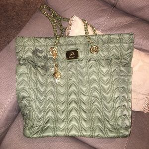 Koret Handbags - Like new Korea olive green quilted tote bag!