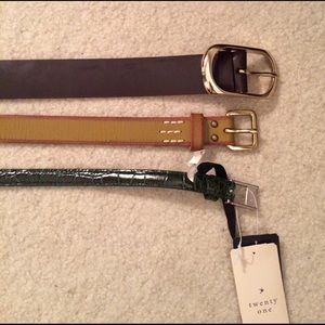 J. Crew Accessories - Lot of 3 belts. Different stores small.