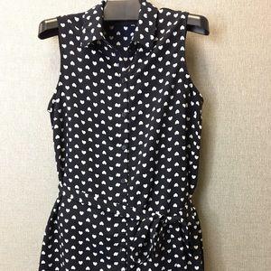 Forever 21 Dresses & Skirts - Forever 21 navy dress w/ heart pattern LOWEST❗️
