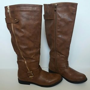 Wild Diva Brown Riding Boots