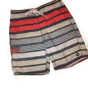 Ezekiel Other - Ezekiel Men's Striped Board Shorts Waist 30