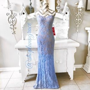 Jump Apparell  Dresses & Skirts - Just In💙 Periwinkle/Nude Sequin Dress