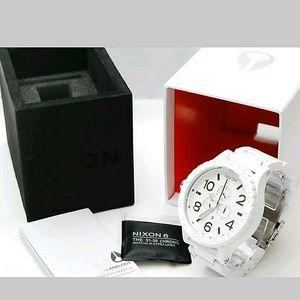 nixon Other - NWT NIXON Chrono PVD white mens 51-30 watch