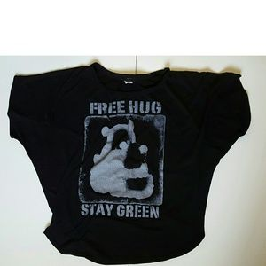 Poetry Clothing Tops - Poetry Clothing Free Hug Stay Green Shirt