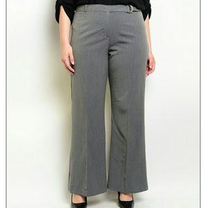Pants - PLUS gray slacks