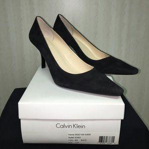 Calvin Klein suede heels NEW