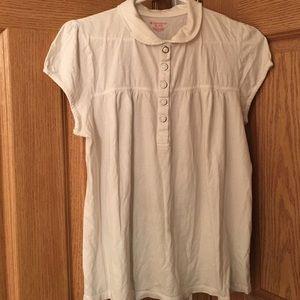No Boundries Tops - White Babydoll Shirt.