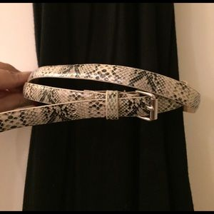 Anne Taylor Accessories - Anne Taylor Snakeskin Lookalike Belt