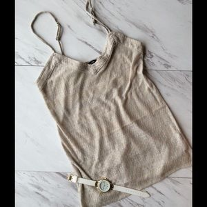 American Eagle Outfitters Tops - Silver/white sparkly tank top