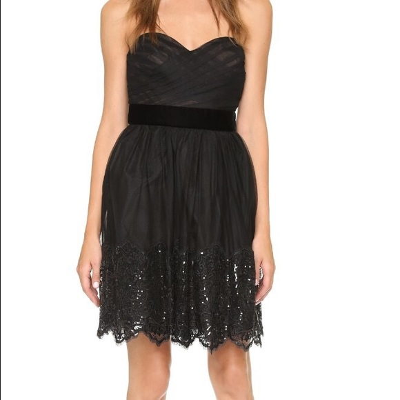 b66a0caf4c Marchesa Dresses   Notte Sweetheart Tulle Sequin Lace Lbd   Poshmark