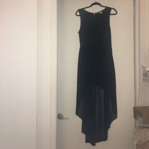 Black H&M High Low Dress with Sheer Sides