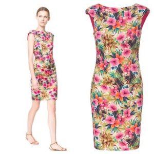 6367c3c3 Zara Dresses | Boat Neck Floral Printed Dress | Poshmark