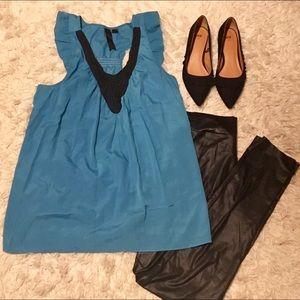 Tops - Beautiful Ruffle Razor back blouse with Black Lace