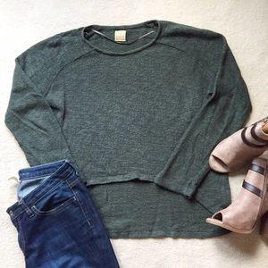 Zara Tops - Zara High Low Hunter Green Top