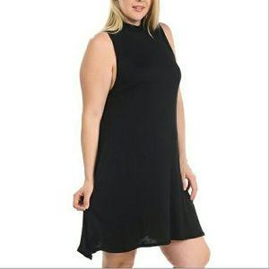 Dresses & Skirts - PLUS black mock neck mini