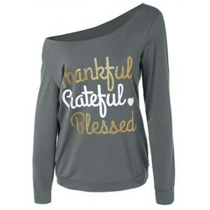 Tops - sparkly blessed tee